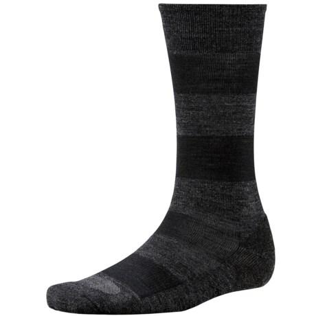 SmartWool Double Insignia Socks - Merino Wool, Crew (For Men) in Charcoal Heather