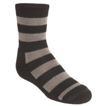 SmartWool Double Insignia Socks - Merino Wool, Lightweight, Crew (For Kids and Youth) in Chestnut Heather - 2nds