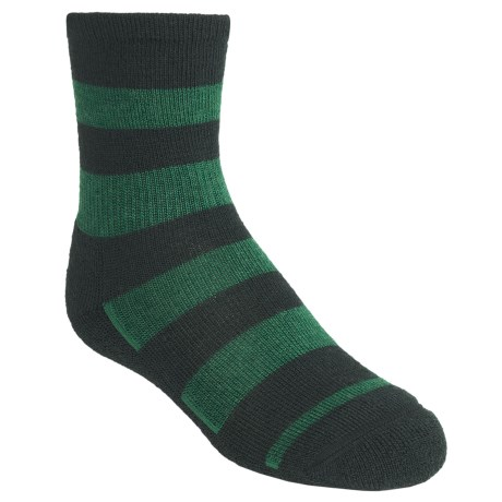 SmartWool Double Insignia Socks - Merino Wool, Lightweight, Crew (For Kids and Youth) in Evergreen
