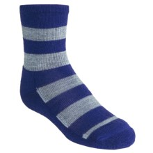 SmartWool Double Insignia Socks - Merino Wool, Lightweight, Crew (For Kids and Youth) in Royal - 2nds