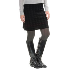 SmartWool Double-Knit Houndstooth Skirt - Merino Wool (For Women) in Charcoal Heather - Closeouts