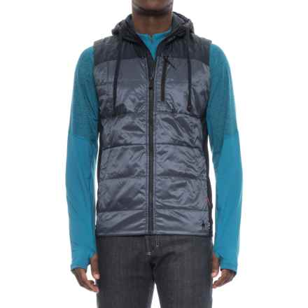 SmartWool Double Propulsion 60 Hooded Vest - Insulated (For Men) in Dark Blue Steel - Closeouts