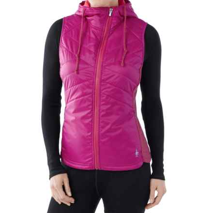 SmartWool Double Propulsion 60 Hooded Vest - Insulated (For Women) in Berry - Closeouts