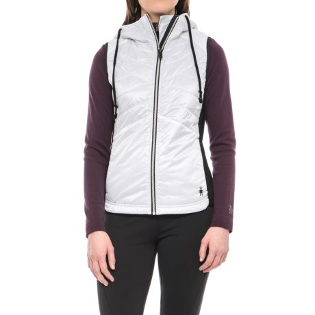 SmartWool Double Propulsion 60 Hooded Vest - Insulated (For Women) in Black/White