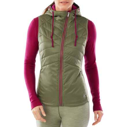 SmartWool Double Propulsion 60 Hooded Vest - Insulated (For Women) in Light Loden - Closeouts