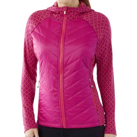 SmartWool Double Propulsion 60 Hoodie - Full Zip (For Women) in Berry