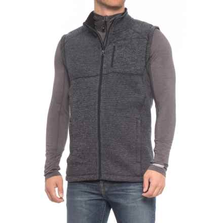 SmartWool Echo Lake Vest - Merino Wool (For Men) in Deep Navy/Light Gray Heather - 2nds