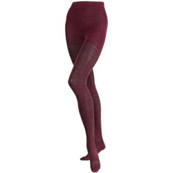 SmartWool Estonia Tights II - Merino Wool (For Women) in Wine Heather