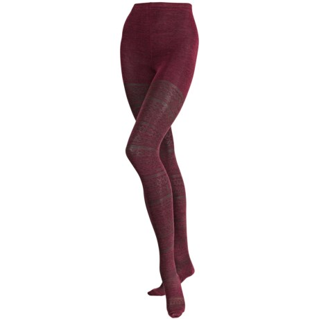 SmartWool Estonia Tights II - Merino Wool (For Women) in Athleta Black