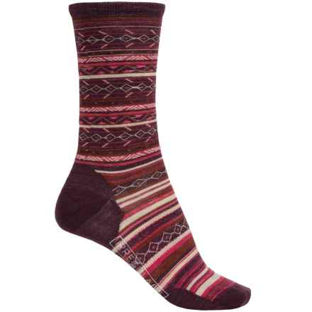 SmartWool Ethno Graphic Socks - Merino Wool, Crew (For Women) in Moab Rust Heather - Closeouts