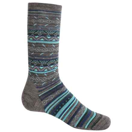 SmartWool Ethno Graphic Socks - Merino Wool, Crew (For Women) in Taupe - Closeouts
