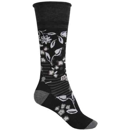 SmartWool Everlasting Eden Socks - Merino Wool, Mid Calf (For Women) in Black - Closeouts