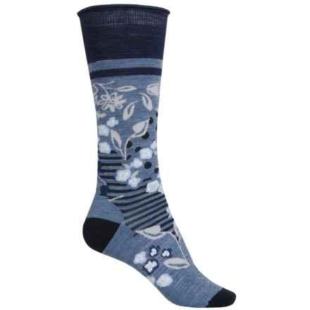 SmartWool Everlasting Eden Socks - Merino Wool, Mid Calf (For Women) in Blue Steel Heather - Closeouts