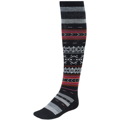 SmartWool Fairview Fair Isle Socks - Merino Wool, Over-the-Calf (For Women) in Black