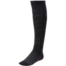 SmartWool Fanflur Knee-High Socks - Meirno Wool, Over the Calf (For Women) in Charcoal Heather - Closeouts