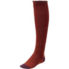 SmartWool Fanflur Knee-High Socks - Meirno Wool, Over the Calf (For Women) in Cinnamon Heather - Closeouts