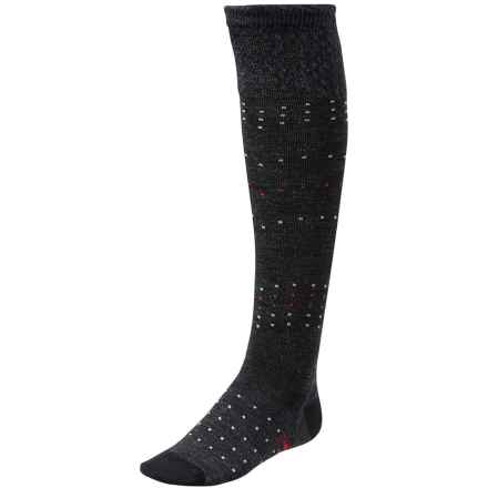 SmartWool Fanflur Knee-High Socks - Merino Wool, Over the Calf (For Women) in Charcoal Heather - Closeouts