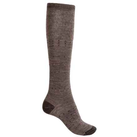 SmartWool Fanflur Knee-High Socks - Merino Wool, Over the Calf (For Women) in Taupe Heather - Closeouts