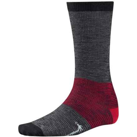 SmartWool Feathered Incline Socks - Merino Wool, Mid Calf (For Men) in Black - 2nds