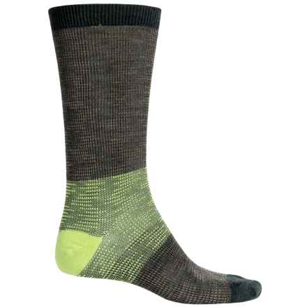SmartWool Feathered Incline Socks - Merino Wool, Mid Calf (For Men) in Bottle Green Heather - 2nds