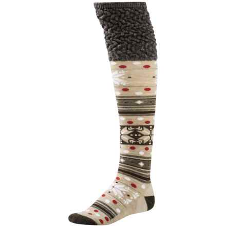 SmartWool Fiesta Flurry Socks - Merino Wool, Knee High (For Women) in Chestnut - 2nds