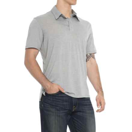 SmartWool Fish Creek Polo Shirt - Merino Wool, Short Sleeve (For Men) in Light Gray - Closeouts