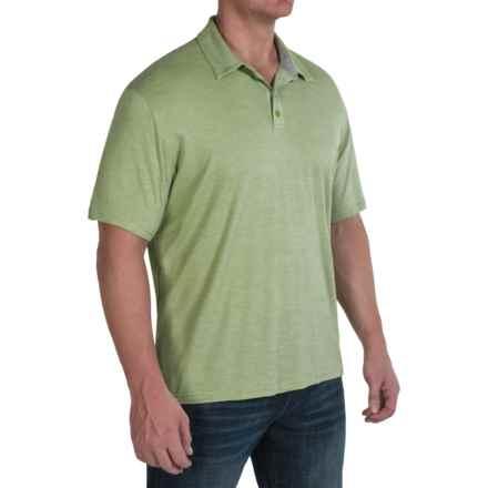 SmartWool Fish Creek Polo Shirt - Merino Wool-TENCEL®, Short Sleeve (For Men) in Pesto - Closeouts