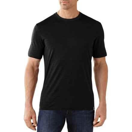 SmartWool Fish Creek T-Shirt - Merino Wool, Short Sleeve (For Men) in Black - Closeouts