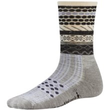 SmartWool Flake Isle Socks - Merino Wool, Crew (For Women) in Light Gray Heather - Closeouts