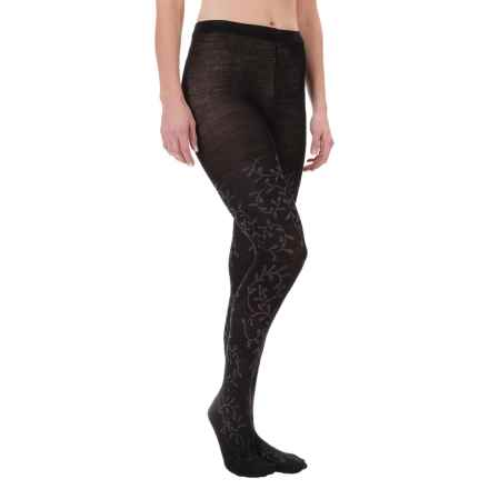 SmartWool Floral Scrolls Tights - Merino Wool (For Women) in Black - Closeouts