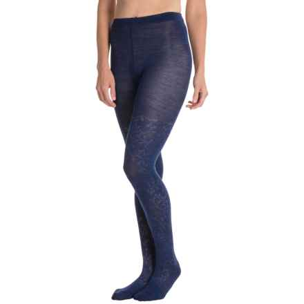 SmartWool Floral Scrolls Tights - Merino Wool (For Women) in Ink Heather - Closeouts