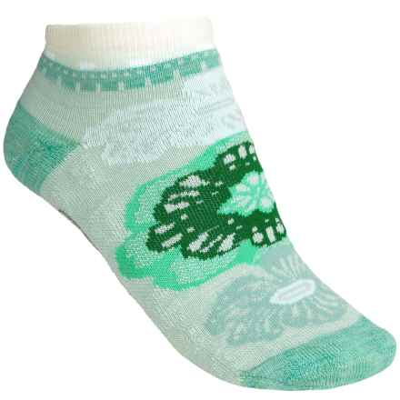 SmartWool Floral Trio Socks - Merino Wool, Below-the-Ankle (For Women) in Fresca - 2nds