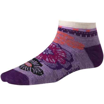 SmartWool Floral Trio Socks - Merino Wool, Below-the-Ankle (For Women) in Lilac Heather - 2nds