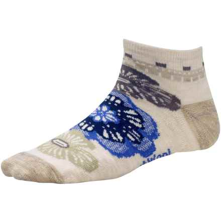 SmartWool Floral Trio Socks - Merino Wool, Below-the-Ankle (For Women) in Natural Heather - 2nds