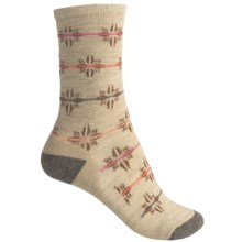 SmartWool Flourish Non-Binding Socks - Merino Wool, Crew (For Women) in Oatmeal Heather - 2nds