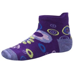 SmartWool Flower Power Socks - Merino Wool (For Girls) in Grape