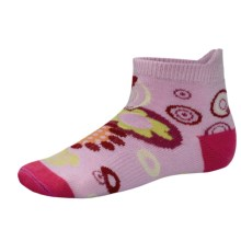 SmartWool Flower Power Socks - Merino Wool (For Girls) in Impatient Pink - 2nds
