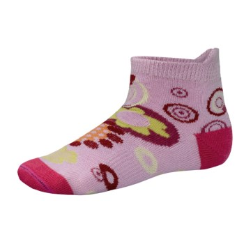 SmartWool Flower Power Socks - Merino Wool (For Girls) in Impatient Pink