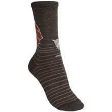 SmartWool Flowering Lark Socks - Merino Wool (For Women) in Chestnut Heather - 2nds