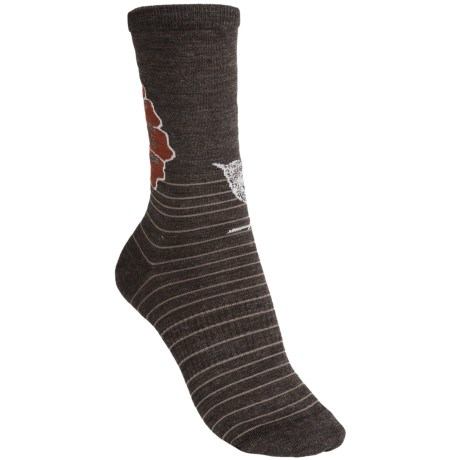 SmartWool Flowering Lark Socks - Merino Wool (For Women) in Chestnut Heather