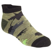 SmartWool Food Fight Socks - Merino Wool, Micro (For Kids and Youth) in Chino Heathr - 2nds