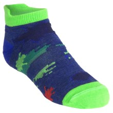 SmartWool Food Fight Socks - Merino Wool, Micro (For Kids and Youth) in Navy Heather - 2nds