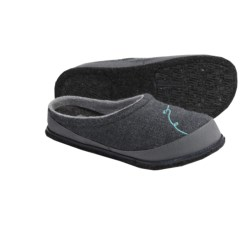 SmartWool Fritter Free Heel Slippers - Merino Wool (For Women) in Medium Grey Heather