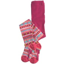 SmartWool Funky Fair Isle Tights - Merino Wool (For Girls) in Berry - 2nds