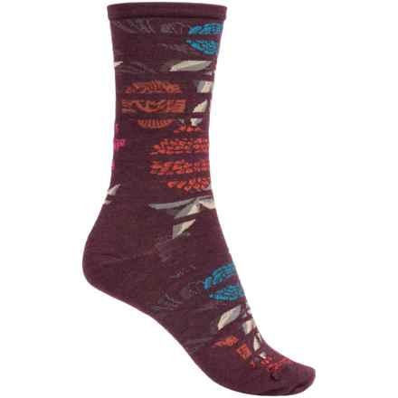 SmartWool Gated Garden Crew Socks - Merino Wool (For Women) in Aubergine Heather - 2nds