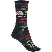 SmartWool Gated Garden Crew Socks - Merino Wool (For Women) in Black - 2nds