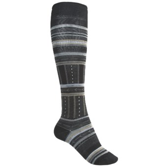 SmartWool Gleaming Seeding Socks - Merino Wool, Over-the-Calf (For Women) in Black