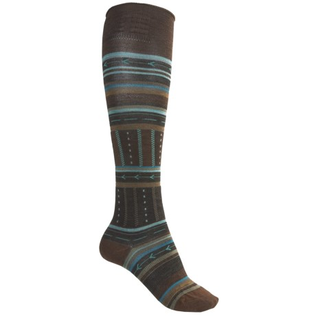 SmartWool Gleaming Seeding Socks - Merino Wool, Over-the-Calf (For Women) in Espresso Heather