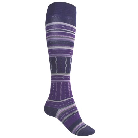 SmartWool Gleaming Seeding Socks - Merino Wool, Over-the-Calf (For Women) in Imperial Purple