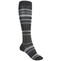 SmartWool Gleaming Seedling Socks - Merino Wool, Over the Calf (For Women) in Black